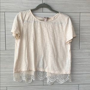 Forever 21 Criss Cross Back Lace Top
